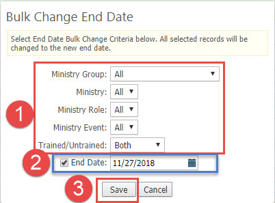 how to delete end date on event