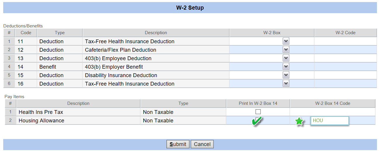 psa payroll w 2 non taxable housing on the w 2 parishsoft