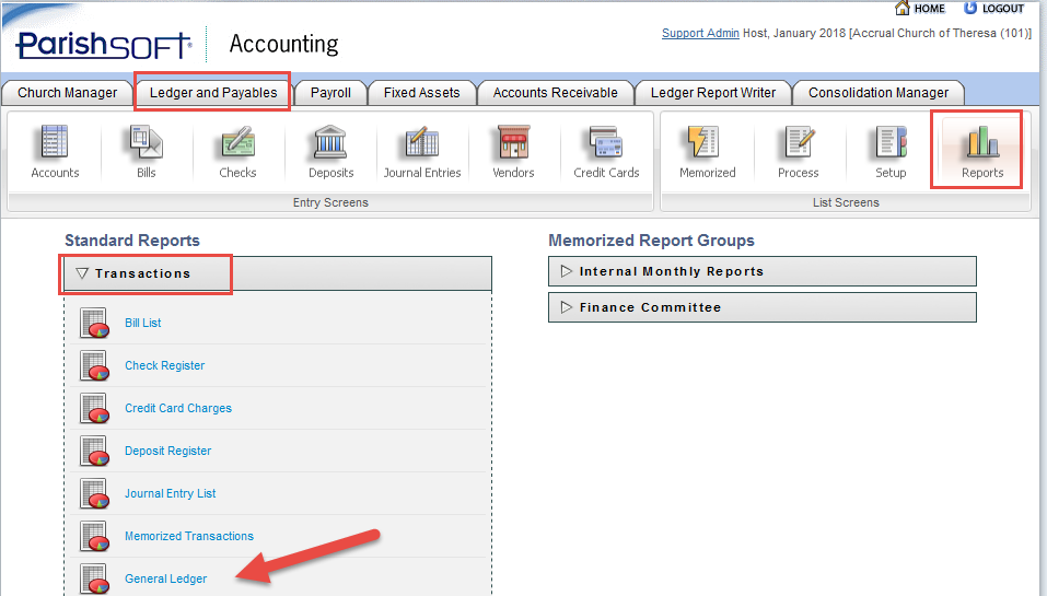 Where To Find The General Ledger Report