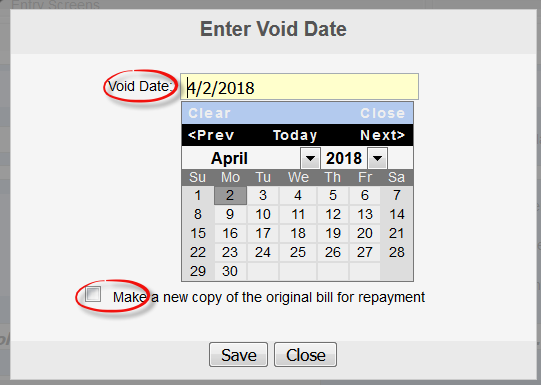 how to make a void check