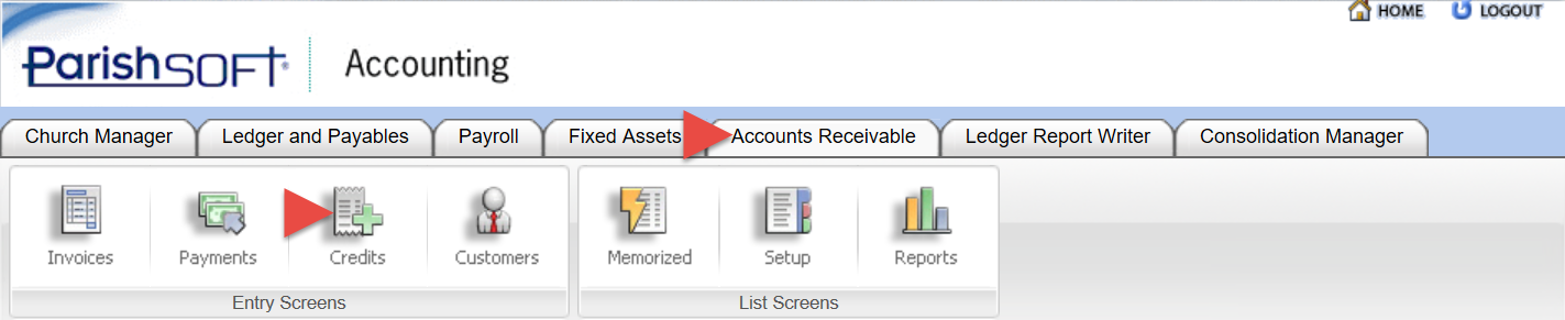 PSA A/R - Credit Memos: How to remove a Credit Memo or the remaining